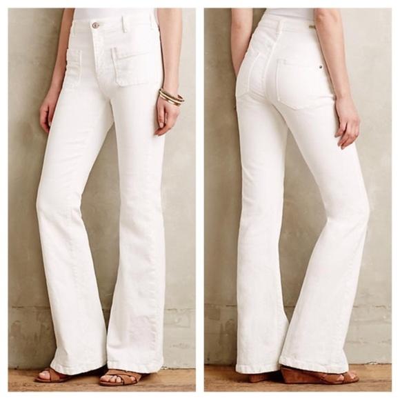 e679ca659bc NWT Pilcro Vintage High Rise Flare White Jeans 31